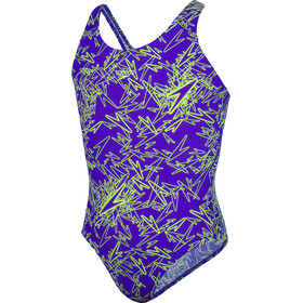 speedo Boom Allover Splashback Uimapuku Tytöt, purple/green